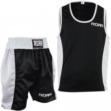 ROAR Boxing Gym Vest & Shorts Set MMA Muay Thai Cloths Sleeveless Top Gym Trunks