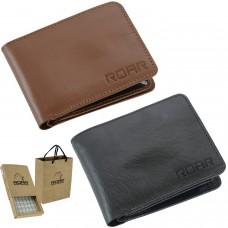 ROAR Genuine Leather RFID Blocking Multi Card Functional Bifold Style Men Wallet