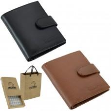 ROAR GENUINE LEATHER RFID Blocking Security Tecnology Trifold Slim Men's Wallet