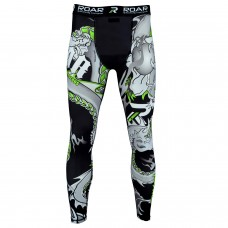 ROAR MMA Compression Tights Fighting Grappling Spats Bjj Leggings Gym Wear Pant