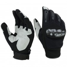 ROAR Mens Air Cooled No Sweat Carbon Fiber Knuckle Motorcycle Gloves Full Finger