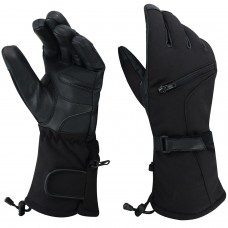 ROAR Winter Textile Gauntlet Snowmobile Glove Men's Motorcycle Riding Waterproof
