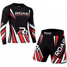 ROAR MMA Grappling Rash Guard BJJ Boxing Fight Shorts Gym Fitness Workout UFC