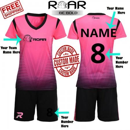 ROAR Women Soccer Uniforms Kits With Shirts/Shorts Custom Made Set All Sizes