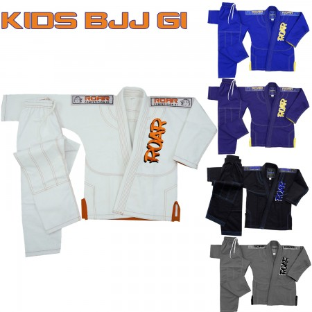 ROAR BJJ Jiu Jitsu Youth Gi Ultra Light MMA Martial Arts Uniform Training Suit