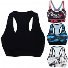 Roar Sports Bras for Women - High Impact Workout Gym Activewear MMA Bra