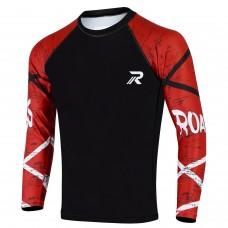 ROAR BJJ Rash Guards MMA Grappling Jiu Jitsu Training No Gi Fight Wear Shirt UFC (Loin Sleeve)