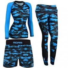 ROAR No Gi Full Set Ladies Leggings MMA Shorts & Grappling Rash Guard Female Fight Wear
