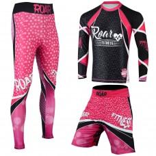 ROAR No Gi Full Set Ladies Leggings MMA Shorts & Grappling Rash Guard Female Fight WearROAR No Gi Full Set Ladies Leggings MMA Shorts & Grappling Rash Guard Female Fight Wear
