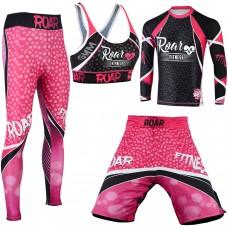Roar No Gi Full Set Ladies Sports Bra BJJ Leggings MMA Shorts & Grappling Rash Guard Female Fight Wear