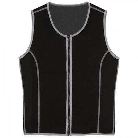 ROAR Men Sauna Vest Weight Loss Shirts Workout Neoprene Corset Compression Body Shaper Fitness Jacket Tank Top Zipper