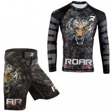 ROAR MMA Grappling Rash Guard BJJ Boxing Fight Shorts