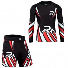 ROAR MMA Grappling Rash Guard BJJ Boxing Fight Shorts Gym Fitness Workout UFC