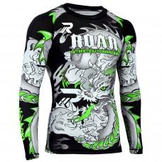 ROAR BJJ Rash Guards MMA Grappling Jiu Jitsu Training No Gi Fight Wear Shirt UFC (Darken-Green)