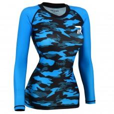 ROAR MMA Grappling Rash Guard Women BJJ Training No Gi UFC Fight Gear Long Sleeve Shirt