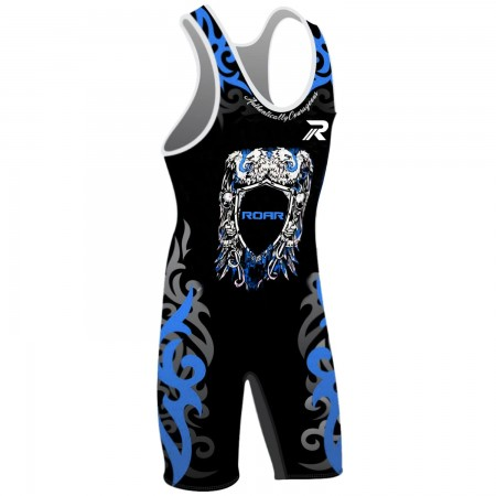 ROAR Athletic Mens Wrestling Singlet High Cut Jam Length Style Suit S M L XL